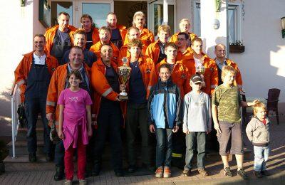 Abteilung Steinbach: Pokal beim Steinbach-Wettbewerb in Burghaun-Steinbach