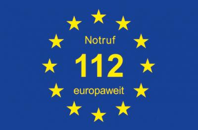 Europaweite Notrufnummer 112